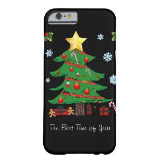 Arbre de Noël avec le cas de l'iPhone 6 de vacance