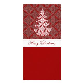 Arbre de Noël de damassé Photocartes