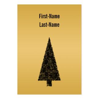 Arbre de Noël élégant. Noir et or Carte De Visite Grand Format