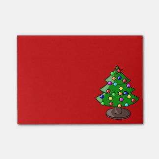 Arbre de Noël sur la note de post-it rouge Notes Autocollantes