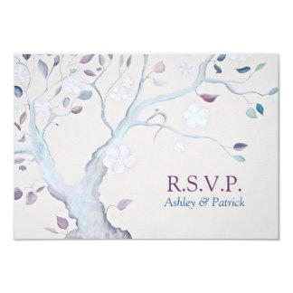 Arbre d'imaginaire épousant RSVP Carton D'invitation 8,89 Cm X 12,70 Cm
