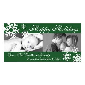 Arbre multiple de Photocard de Noël de flocons de  Modèle Pour Photocarte