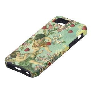 Arbre victorien vintage de coeur de cupidons de coque tough iPhone 5