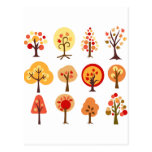 Arbres d'automne carte postale