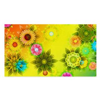 Arc-en-ciel flower power carte de visite standard