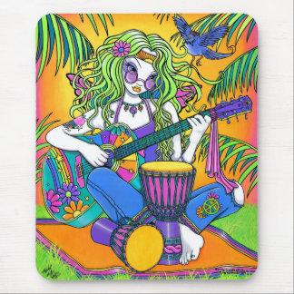 Arc-en-ciel musical Mousepad féerique hippie de mé Tapis De Souris