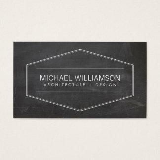 Architecte moderne vintage de tableau d'emblème cartes de visite