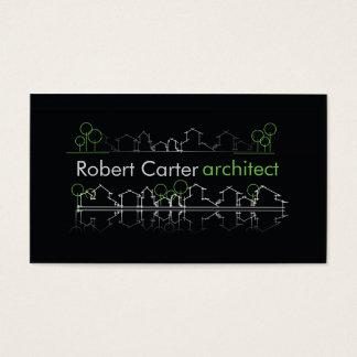Architekten-Erbauer-Planer-Schwarz-wirklicher Visitenkarte