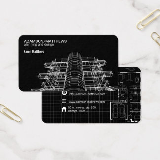 Architektendesigner plant Visitenkarte