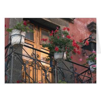 Architektur auf den Straßen von San Miguel De Karte