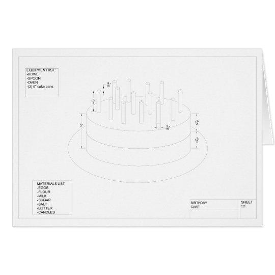 Architekturgeburtstags-Kuchen Grußkarte