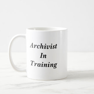 Archivar in der Trainings-Tasse Kaffeetasse