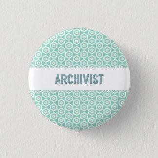Archivarknopf, auf Aqua Runder Button 3,2 Cm