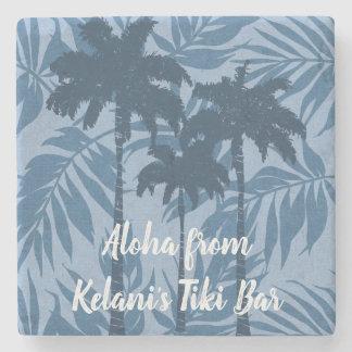 Arekanuss-Palmen-hawaiische tropische Vintage Steinuntersetzer