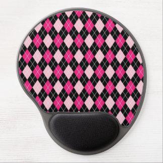 ARG-PINK-1 Jacquard rose et noir Tapis De Souris Avec Gel