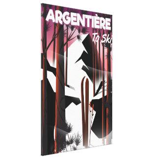 Argentière, Frankreich-Skireiseplakat Leinwanddruck