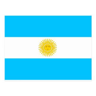Argentinien-Flagge Postkarte