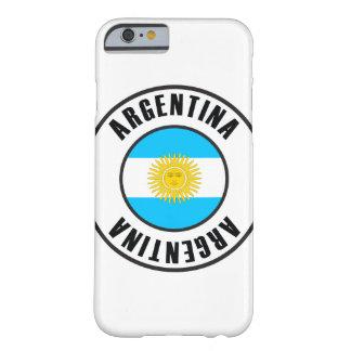 Argentinien-Flaggen-einfache Dunkelheit Barely There iPhone 6 Hülle
