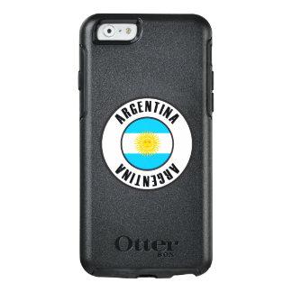 Argentinien-Flaggen-einfache Dunkelheit OtterBox iPhone 6/6s Hülle