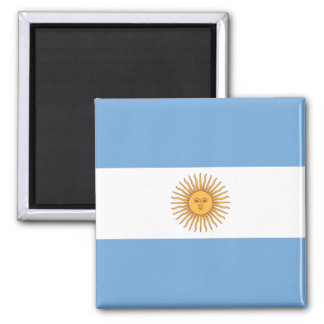 Argentinien-Flaggen-Magnet Quadratischer Magnet