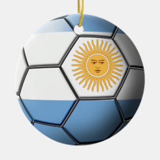 Argentinien-Fußball-Verzierung Keramik Ornament