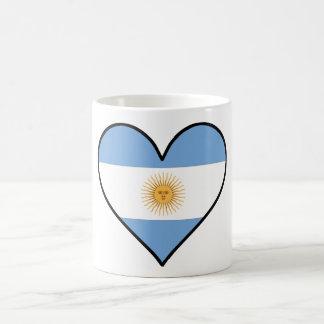 Argentinisches Flaggen-Herz Kaffeetasse