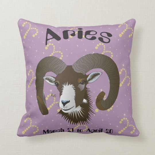 Aries March 21 to April 20 Pillows Kissen