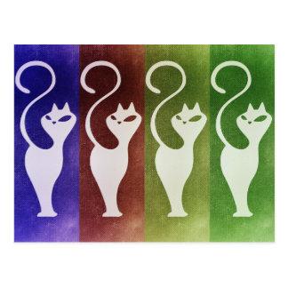 Aristocats Weiß-Silhouette Postkarte