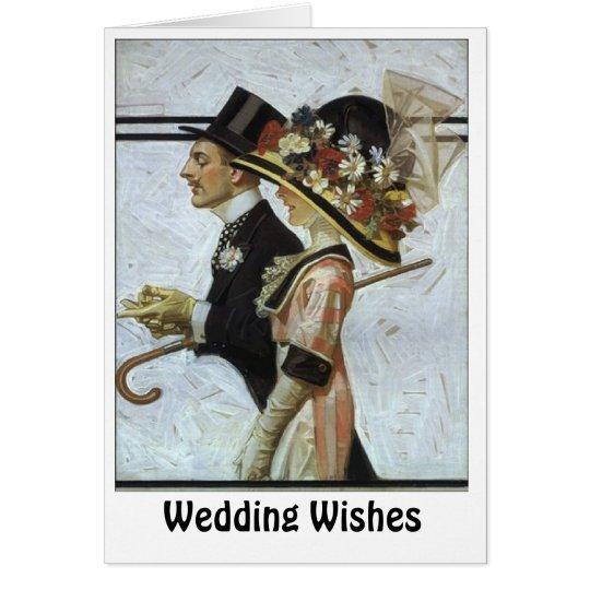 Aristokratische Paare Grußkarte