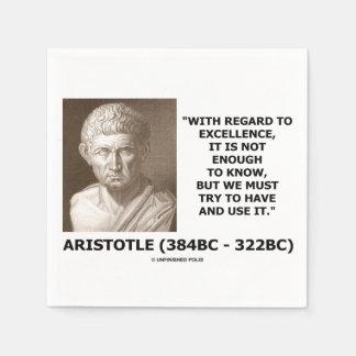 Aristoteles-hervorragende Leistung nicht genug zu Papierservietten