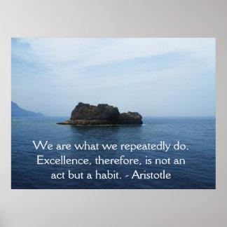 Aristoteles-Leistungs-Zitat Poster