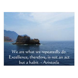 Aristoteles-Leistungs-Zitat Postkarte