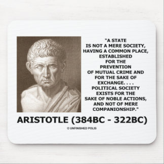 Aristoteles-Staats-nicht bloße Mauspad