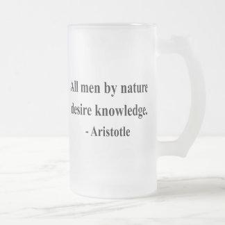 Aristoteles-Zitat 6a Mattglas Bierglas
