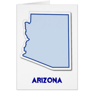 Arizona-Aufkleber-Karte Karte