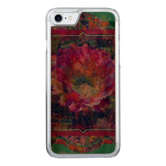 Arizona-Blume iPhone hölzerner Fall, grafische Carved iPhone 8/7 Hülle