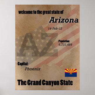 Arizona der Grand- CanyonStaats-Klassiker Poster