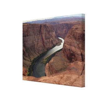ARIZONA - Hufeisenbiegung A - roter Felsen Leinwanddruck