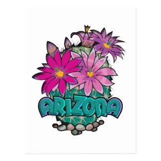 Arizona-Kaktus-Blüte Postkarte