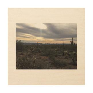 Arizona-Landschaftshölzerne Wandkunst Holzwanddeko