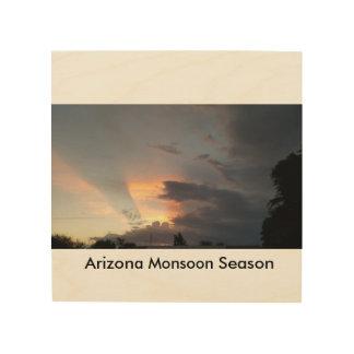 Arizona-Monsun-Jahreszeit Holzleinwand
