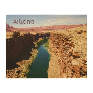 Arizona-Reise-Plakat-Art-Landschaftsphotographie Holzleinwand