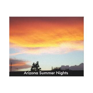 Arizona-Sommer-Nächte auf Leinwand