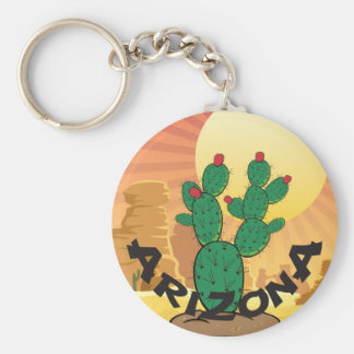 ARIZONA-Sonnenuntergang-Kaktusfeige-Kaktus Schlüsselanhänger