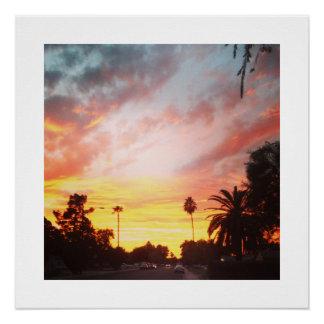 Arizona-Sonnenuntergang-Plakat Poster