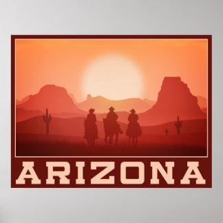 Arizona-Sonnenuntergangplakat 2 Poster