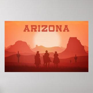 Arizona-Sonnenuntergangplakat 3 Poster