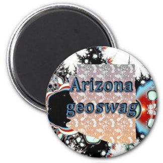 Arizona-Staat Geocaching liefert Magneten Geoswag Runder Magnet 5,1 Cm