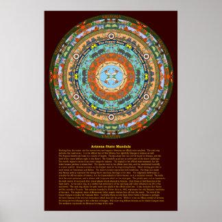 Arizona-Staatmandala-Plakat Poster