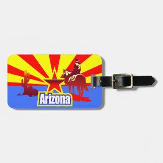 Arizona-Staats-Flaggen-Illustration Kofferanhänger